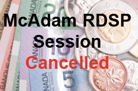 McAdam Session Cancelled
