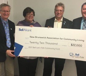 Bell Let's Talk cheque presentation